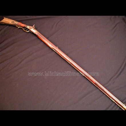 ANTIQUE KENTUCKY RIFLE, POSSIBLY FROM HUNTINGTON COUNTY, PA.