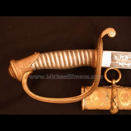TIFFANY CIVIL WAR FOOT OFFICERS SWORD