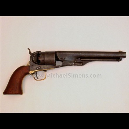 COLT 1860 ARMY REVOLVER WITH RARE, NAVY SIZED GRIPS