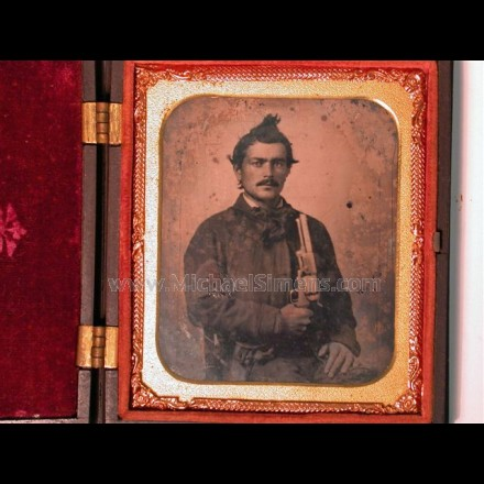 CIVIL WAR PHOTOGRAPH, CONFEDERATE AMBROTYPE