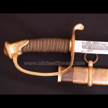 CIVIL WAR SWORD, ROBY OFFICER'S SWORD
