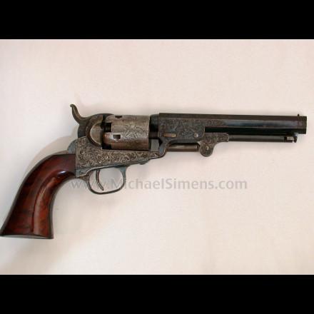 COLT 1849 POCKET REVOLVER, FACTORY ENGRAVED