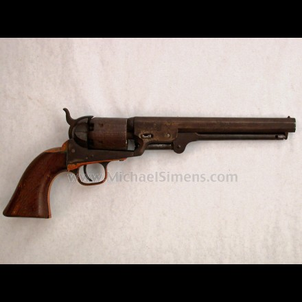 COLT NAVY REVOLVER, INSCRIBED AND IDENTIFIED