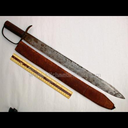 CONFEDERATE BOWIE KNIFE, D-GUARD