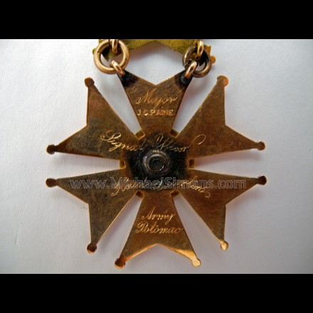 INSCRIBED CIVIL WAR AOP BADGE - SIGNAL CORPS