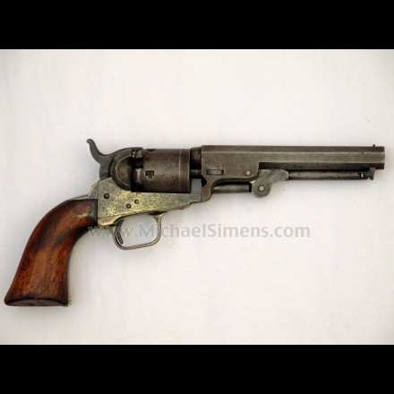 Colt 1849 pocket revolver with 5 inch barrel