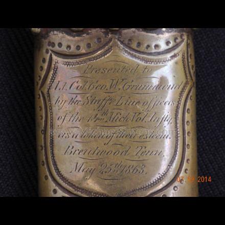 FETTERMANN MASSACRE SWORD, GEORGE W. GRUMMOND SWORD