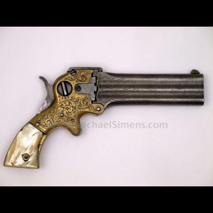 MARSTON 3-BARREL DERINGER - ANTIQUE GUN
