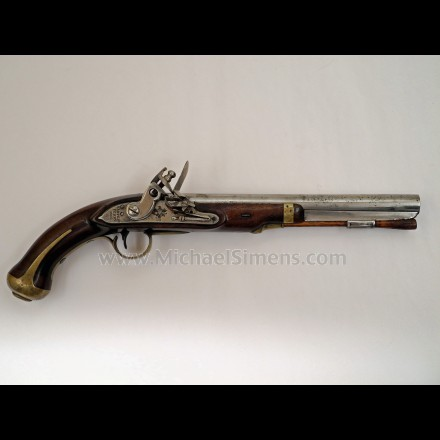 Model 1805 Harpers Ferry Flintlock Pistol.