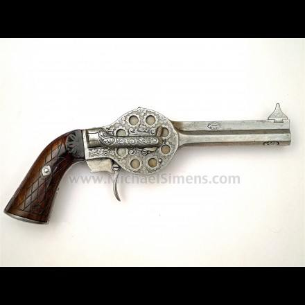 ANTIQUE TURRET PISTOL OF FRENCH MANUFACTURE