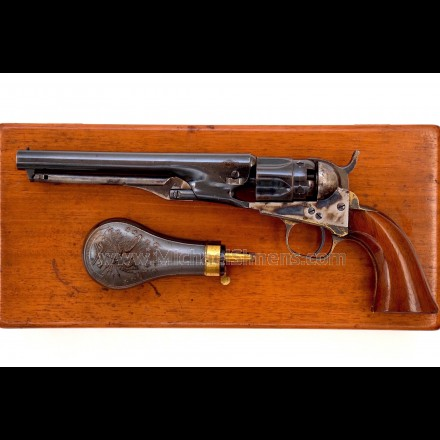 EXCELLENT COLT 1862 POLICE REVOLVER CASED WITH ACCESSORIES