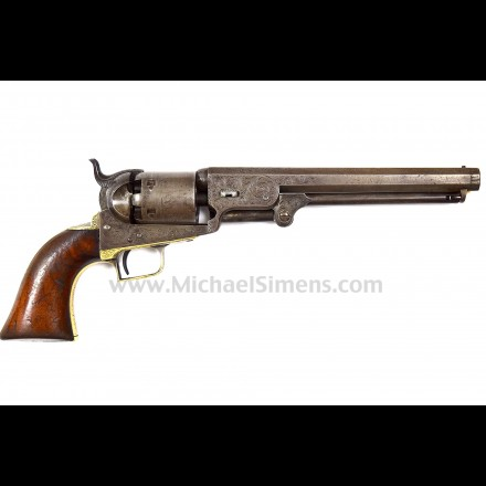 "SUPER RARE, COLT FACTORY ENGRAVED ""FIRST-MODEL"" NAVY REVOLVER"