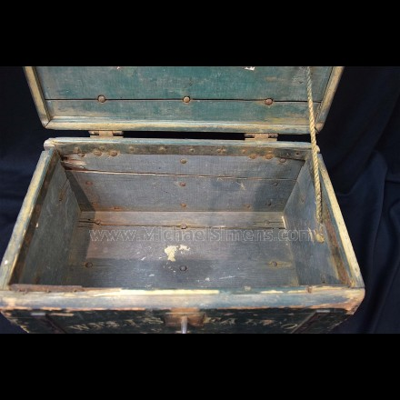 WELLS FARGO STRONG BOX WITH ORIGINAL LOCK