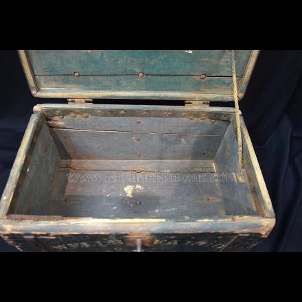 WELLS FARGO STRONG BOX WITH ORIGINAL LOCK