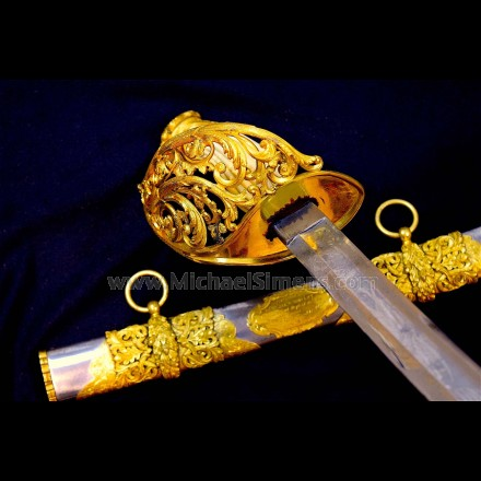 STUNNING, CIVIL WAR CAVALRY PRESENTATION SWORD
