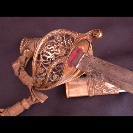 HISTORICALLY INSCRIBED CIVIL WAR STAFF & FIELD OFFICERS SWORD.