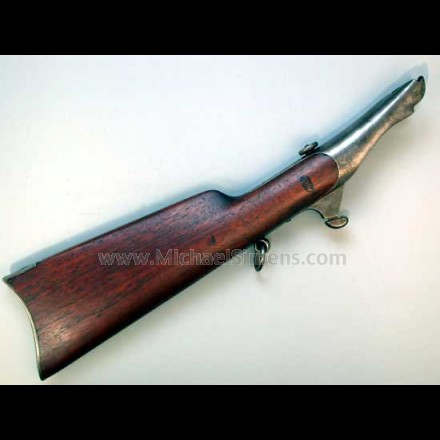 Colt Dragoon Revolver Shoulder Stock- Martially Marked.